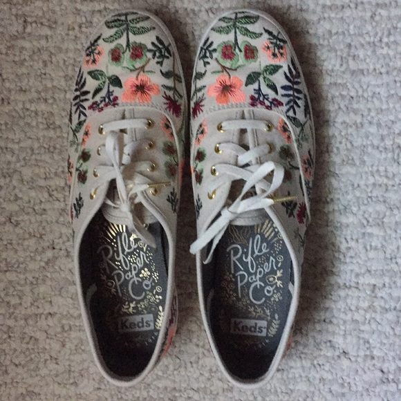 748f5300802e6 Keds Shoes - Keds x rifle paper co. herb garden embroidered